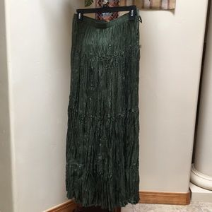 Skirt- forest green; Bloomingdale's brand